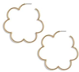 Kate Spade Scrunched Scallops Large Hoop Earrings
