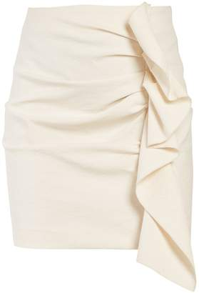 Isabel Marant Lefly asymmetric ruffle mini skirt