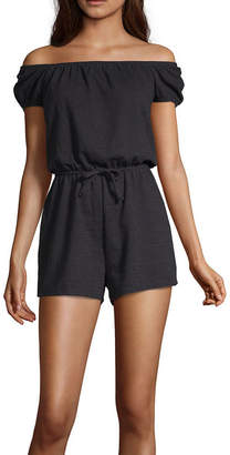 Arizona Short Sleeve Romper-Juniors