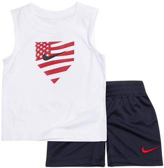 Nike Baby Boy Graphic Tank Top & Shorts Set