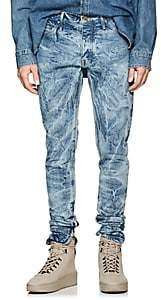 Fear Of God Men's Acid-Washed Ankle-Zip Slim Jeans - Lt. Blue