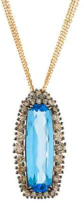 Suzanne Kalan 18K Topaz & Diamond Pendant Necklace rose 18K Topaz & Diamond Pendant Necklace