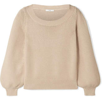 3e91d6271f Co Silk And Cotton-blend Sweater - Beige