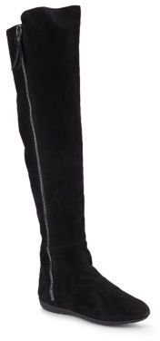 Suede & Rabbit Fur-Lined Knee-High Boots $1,550 thestylecure.com