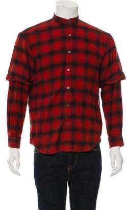 Public School Plaid Button-Up Shirt