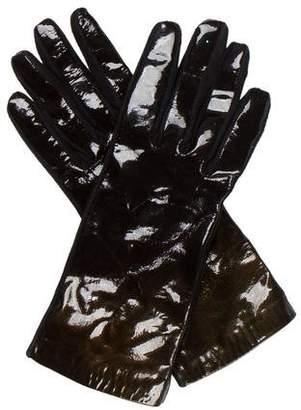 Saint Laurent Patent Leather Ombré Gloves