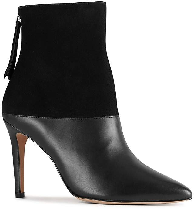 Reiss Women's Genoa Leather & Suede High Heel Booties