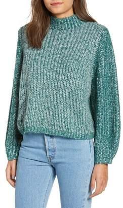 BP Marled Puff Sleeve Sweater