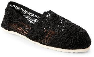 esprit Black Toso Aztec Crochet Slip Ons $39 thestylecure.com