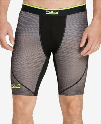 Polo Ralph Lauren Men's Printed Compression Shorts $49.50 thestylecure.com