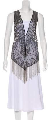 Haute Hippie Embellished Mesh Vest
