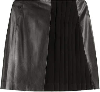 Thierry Mugler Mini Skirt with Leather