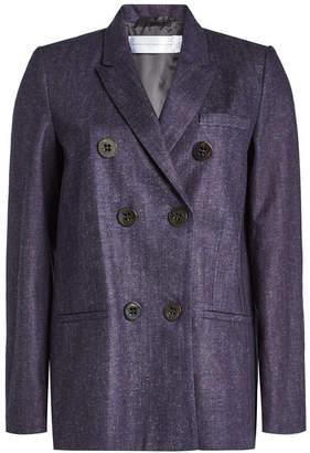 Victoria Beckham Victoria Cotton Blazer with Linen