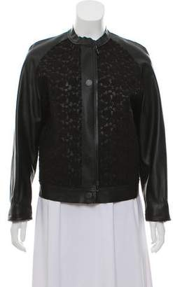 Lanvin Embroidered Leather Jacket
