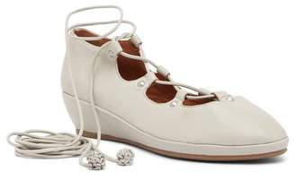 Kenneth Cole Gentle Souls by Nita Leather Lace-Up Wedge Flat