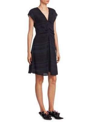 Proenza Schouler Ruched Cap-Sleeve Dress