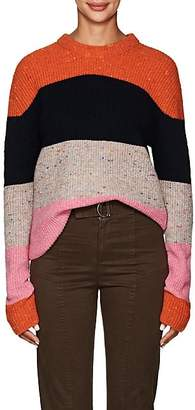 A.L.C. Women's Colorblocked Wool-Blend Crewneck Sweater - Orange