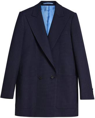Burberry Pin Dot Wool Double-breasted Jacket