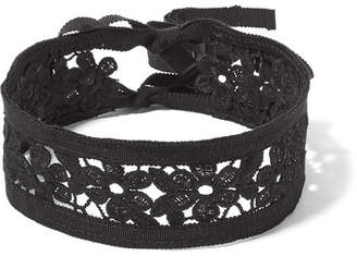 Anna Sui - Guipure Lace And Grosgrain Choker - Black