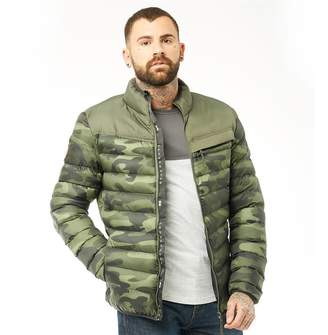 Jacket Camo At Crosshatch · Forest Zip Mens Chankford Padded Quilted Thru wBS7qg8