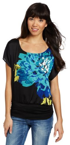 My Michelle Juniors Placement Print Top