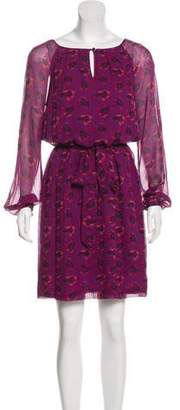 Tory Burch Silk Long Sleeve Printed Dress