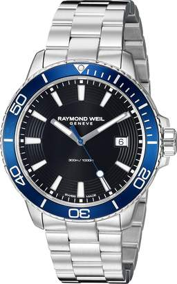 Raymond Weil Men's 'Tango 300' Quartz Stainless Steel Diving Watch, Color:Silver-Toned (Model: 8260-ST3-20001)