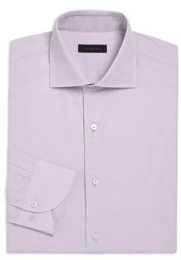Saks Fifth Avenue COLLECTION Mini Check Button-Down