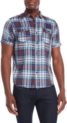 Buffalo David Bitton Saber Short Sleeve Plaid Shirt