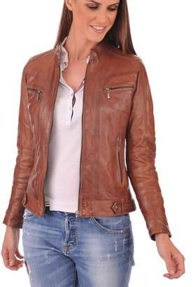 glamourworldretail leatherjacket Womens Genuine Lambskin Motorcylce Leather Jacket