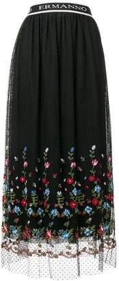 Ermanno Ermanno floral embroidered skirt