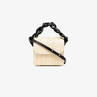 Marques Almeida Marques'almeida Neutral Chunky Chain Straw Shoulder Bag