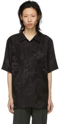 Alexander Wang Black Silk Dragon Shirt