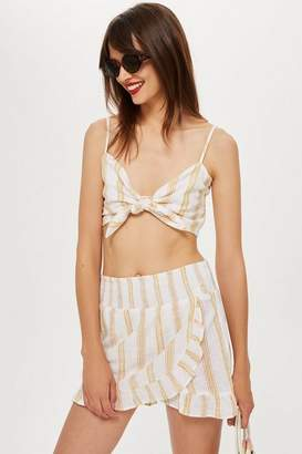 Topshop Womens Striped Woven Cami Top