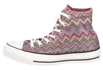 72b3581828a4 Pre-Owned at TheRealReal · Converse Missoni x Chevron High-Top Sneakers