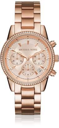 Michael Kors Ritz Rose Gold Tone Women's Watch