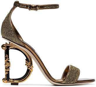 Dolce & Gabbana G glitter sandals