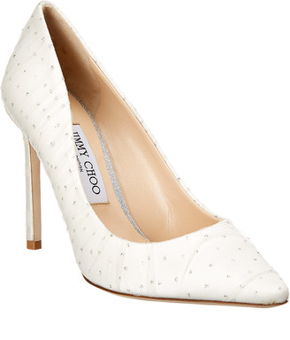 26ae9676b40 Jimmy Choo Romy 100 Leather   Tulle Pump