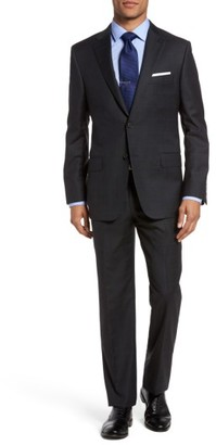 Men's Hickey Freeman B-Series Classic Fit Windowpane Wool Suit $1,595 thestylecure.com