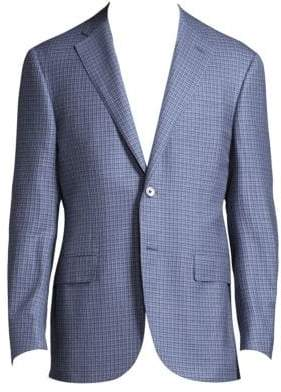 Corneliani Regular-Fit Windowpane Wool Jacket