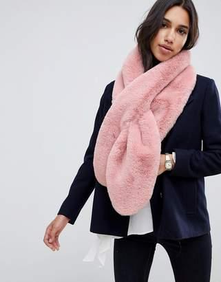 Asos DESIGN oversized faux fur scarf