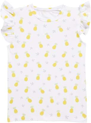 Coco Moon Pineapple Flutter Sleeve Tee