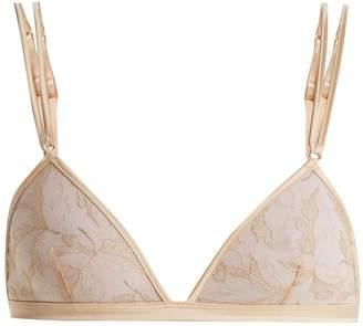 COCO DE MER Wonderland embroidered-lace triangle bra