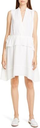Club Monaco Raelee Sleeveless Ruffle Waist Dress