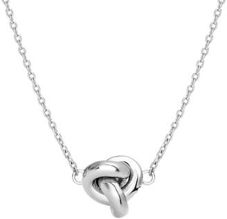 John Greed Silver Love Knot Necklace