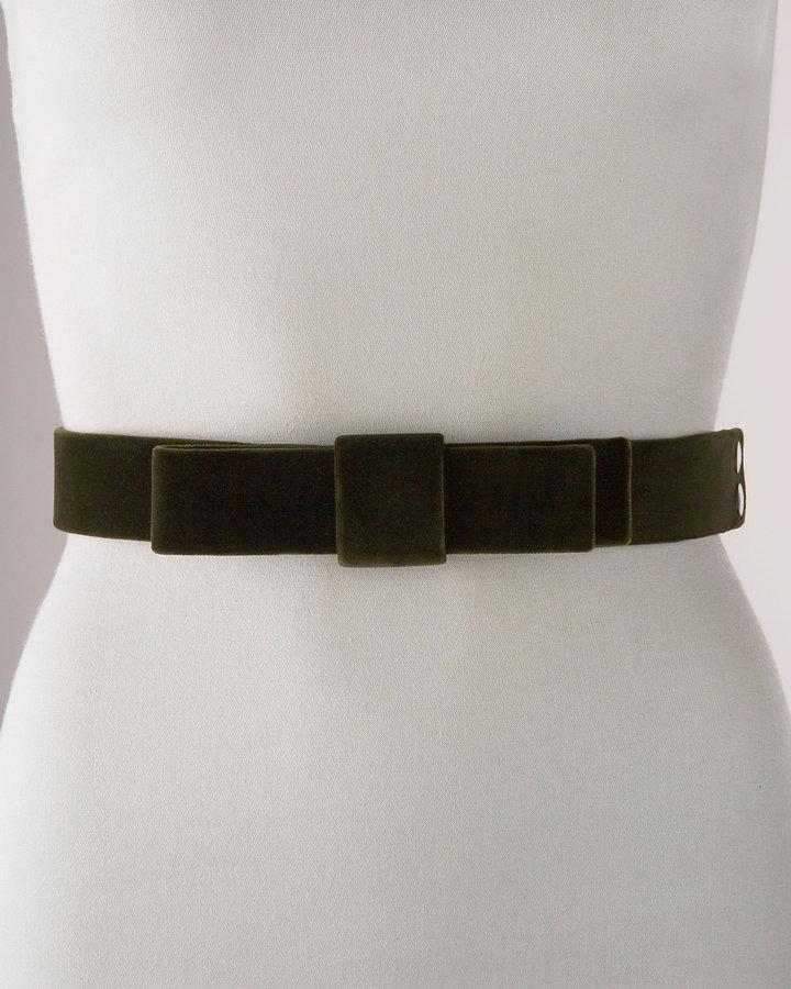 Lanvin Velvet Bow Belt, Medium