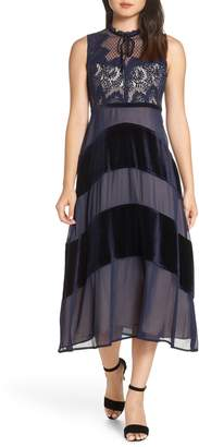 Foxiedox Hana Velvet Midi Dress
