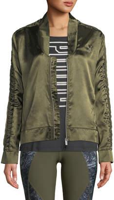 Puma Satin Lux T7 Jacket, Green