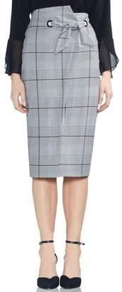 Vince Camuto High Waist Glen Plaid Pencil Skirt
