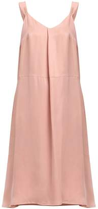 PAISIE - Slip Dress With Fold & Knots In Dusty Pink